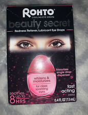 Rohto Beauty Secret Redness Reliever Lubricant Cooling Eye Drops4oz EXP12/2021