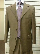 Baroni Suit, 38S/32W, Dark Tan, Made in Italy, NWT