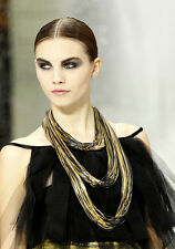 CHANEL Runway Multi Chain Necklace Retail $2,600 NEW