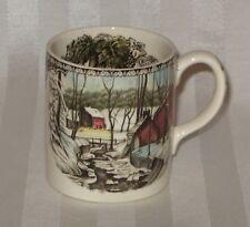Johnson Bros. Friendly Village Mug Made in ENGLAND White/ Multicolor