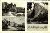 Bad Münster am Stein Ebernburg AK 1961 Mehrbildkarte Ruine Rheingrafenstein Nahe