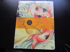 MOLESKINE CAHIERS LARGE SIZE SET OF 2 RULED JOURNALS BOOKS COVER ART KOI