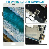 White OEM For Oneplus 1+ 3 3T A3010 LCD Touch Screen Digitizer Replacement Frame