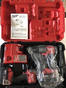 Milwaukee 2997-22 M18 Hammer Drill & Impact Driver Combo Kit - Read Description!