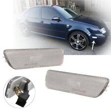 2x Smoke Lens Front Bumper Side Marker Bumper Light for VW Golf Jetta MK4 99-05