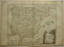 Espana Spanien Baleares Caminos Correo Orig Kupferstich R. Vaugondy 1680