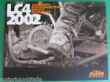 KTM LC4 02 SM ENDURO ADVENTURE CATALOGO BROCHURE  PUBBLICITA PROSPEKT