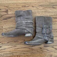 Anthropologie Splendid Suede Buckle Boots 8