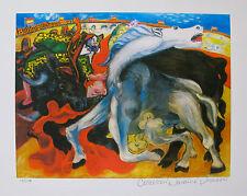 Pablo Picasso BULL FIGHT, DEATH OF TOREADOR Estate Signed Ltd Ed Giclee Medium