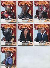 Captain America Civil War Complete Team Iron Man Chase Card Set IMB1-7
