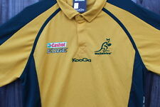 KOOGA WALLABIES CASTROL EDGE RUGBY TSHIRT YELLOW/GREEN SIZE:XL NEW WITH TAGS