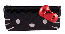 Black Hello Kitty Trifold Wallet with Bow