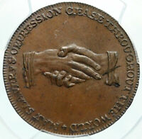 1790's ENGLAND Great Britain ABOLITIONIST ANTI SLAVERY Conder Token PCGS i84009