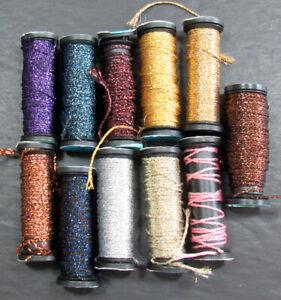 11x Needlepoint/Embroidery THREAD KREINIK 12 Braid metallic-mixed-ZZ518