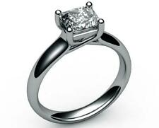 UNIQUE SPECIAL 18 KARAT WHITE GOLD 1.5 CT SI2 D RADIANT DIAMOND SOLITAIRE RING