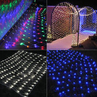 3M*2M 6M*4M Mesh LED Fairy String Net Curtain Xmas Party Ceiling Lights Tree HOT