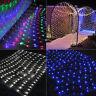 3M*2M 6M*4M Mesh LED Fairy String Net Curtain Xmas Party Ceiling Lights Tree HOT