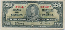 BANK OF CANADA 20 DOLLAR 1937 HE0965117 BC25C - VF+
