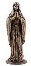 Veronese Bronze Figurine Religious Our Lady Mother Mary Praying small Statue