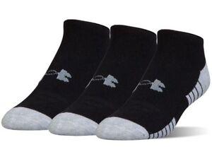 NEW 3 PK Under Armour UNISEX  Heat Gear NO SHOW Socks M L XL