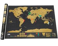 Scratch Map Deluxe Travel Edition Off World Poster Personalized Journal Log Gift