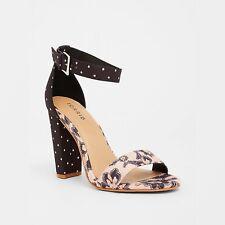 752288180aa Torrid Pink   Navy Paisley Dot High Heel Sandal Size 9W