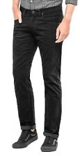 Lee Daren Zip Regular Fit Slim Black Cords Stretch Corduroy Jeans Trousers