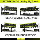VEDDHA 6/8 GPU V3C&V3D Stackable Open Air Rig Case Mining Rig Frame Ethereum BTC