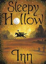 8x11 Halloween SIGN SLEEPY HOLLOW INN RYTA HEADLESS HORSEMAN PRINT OF PAINTING