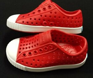Native Toddler Shoes Girls/Boys Jefferson - Torch Red - Size 5c - NEW NWOB