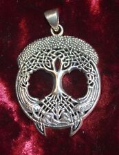 Wonderful Sterling Silver Celtic Tree of Life Pendant Pagan/Wiccan/Gothic