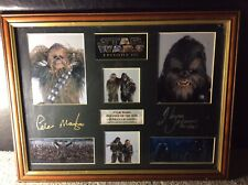 Star Wars Signed Chewbacca And Farful Picture Piece