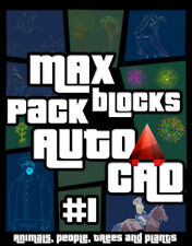 MAX Pack Blocks for AutoCAD #1 (animals, people, trees and plants)