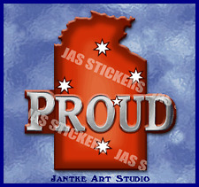 State - Northern Territory Proud Car Stickers For Motorbike Caravan - STN129