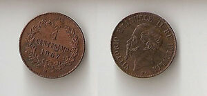 Italy 1 centesimo 1867 M UNC!