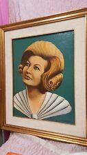 "Emidio Navarra (1915-?) ""Ritratto femminile"" olio  40x50 cornice  (u)"
