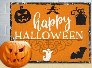Happy Halloween Sign. Cute Rustic Design. Halloween 2021.
