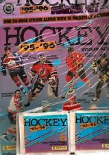 1995-96 Panini NHL Sticker Starter Set Album + 60 Stickers Factory Sealed