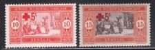 Senegal 1915 Red Cross Overprint set Sc# B1-2 NH