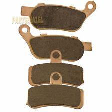 F+R Sintered Brake Pads fit HARLEY Super Wide Glide Dyna Low Rider Fat Boy Softa