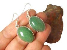 Green  AVENTURINE   Sterling  Silver  925  Gemstone  EARRINGS  -  Gift  Boxed!