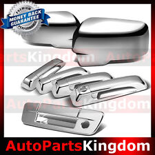 13-16 Ram Chrome Mirror w/Light hole+4 Door Handle+Tailgate w. KH no CM Cover