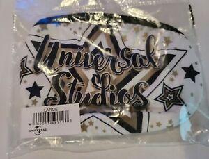 Universal Studios White w/ Stars Print Face Mask Large
