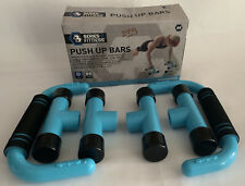 Series 8 Fitness Push Up Bars with Padded Grips (Baby Blue)