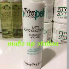 Vitapelle Acido Glicolico Latte 8% 250ml-  RUGHE ACNE MACCHIE  PELLE GRASSA
