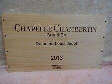 2013 CHAPELLE  CHAMBERTIN WOOD WINE PANEL END