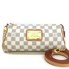 Louis Vuitton Damier Azur Eva Clutch Shoulder Hand Bag Shoulder Strap/10329