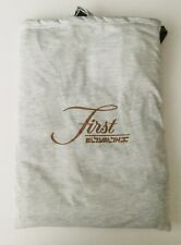 BNIP AIRLINE TRAVEL 'FIRST CLASS' BEIGE MARL V-NECK  PYJAMA SET & BAG SIZE 2