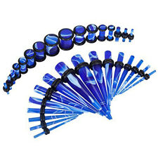 32pcs Gauges Kit Ear Tapers and Plugs Acrylic Tunnels 14G-0G Ear Stretching