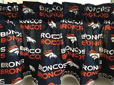 "NEW NFL Denver Broncos Football Sports Handmade Valance Curtain 56""W x 13"""